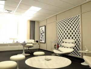 One of the Mad Men sets, designed by Claudine Didul. Photo from SDSA.org.